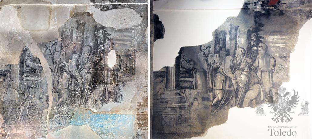 Los murales de la Pza. de Abdón de Paz. Toledo