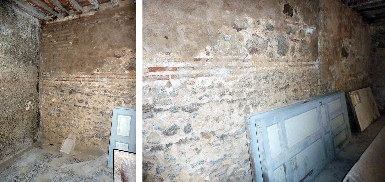 Muro de opus caementicium en Calle Alfileritos nº 8, en Toledo. Foto: Jose María Gutiérrez Arias, Sección Vivienda. Consorcio de la Ciudad de Toledo