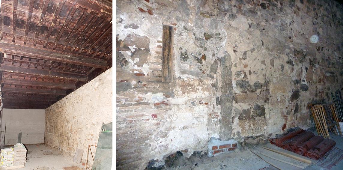 Medianera trasera del edificio del Callejón de los Bécquer nº 7, en Toledo. Fotografías: Jose María Moreno Santiago, Consejería de Educación y Cultura de la Junta de Comunidades de Castilla-La Mancha. Año 2006.