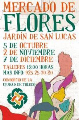 Cartel Mercado de las Flores