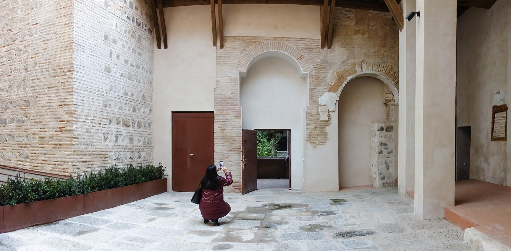 Antiguo patio de la lavandería, en el Convento de San Clemente, Toledo. Fotografía: Jose María Gutiérrez Arias. Año 2018