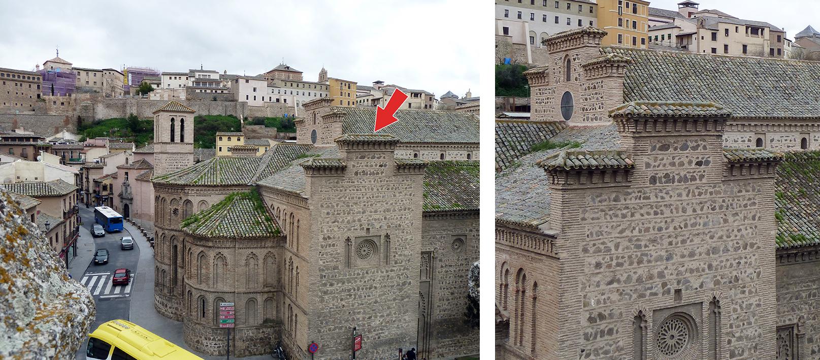 Detalle de una de las espadañas de la Iglesia de Santiago del Arrabal, en Toledo. Fotografía: Jose María Gutiérrez Arias. Sección Vivienda, Área de Gestión Patrimonial, Consorcio de la ciudad de Toledo. Año 2019.