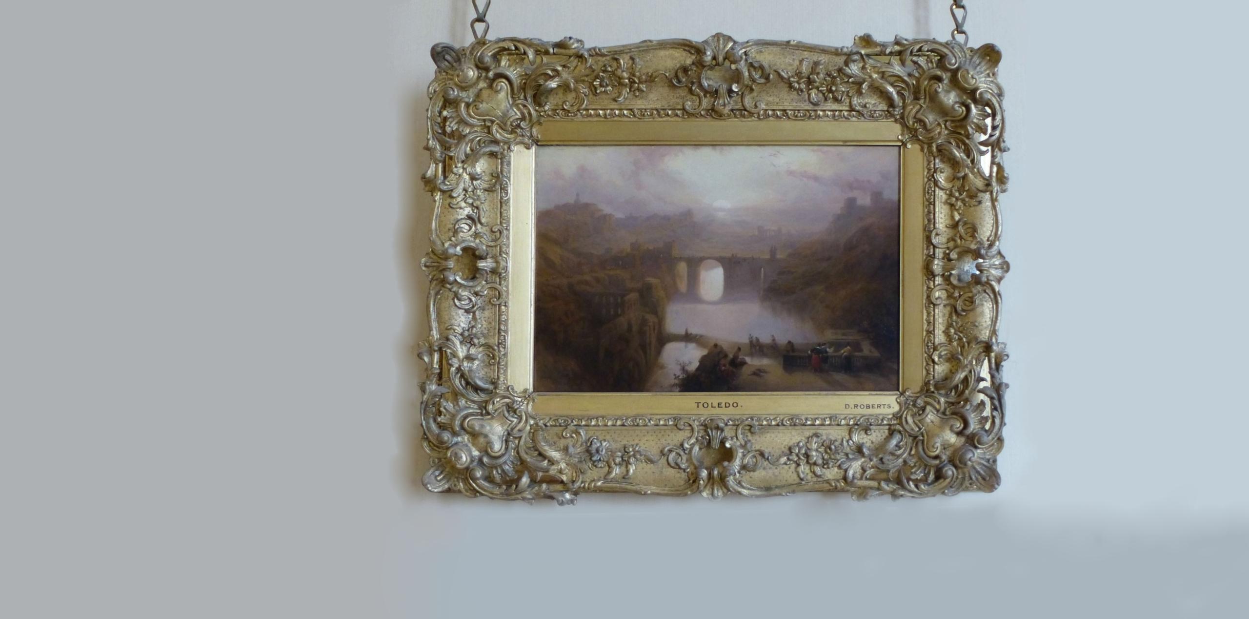 Una vista de Toledo y el río Tajo (1841) David Roberts. Óleo sobre panel 25 x 36,45 cm. The Royal Collection