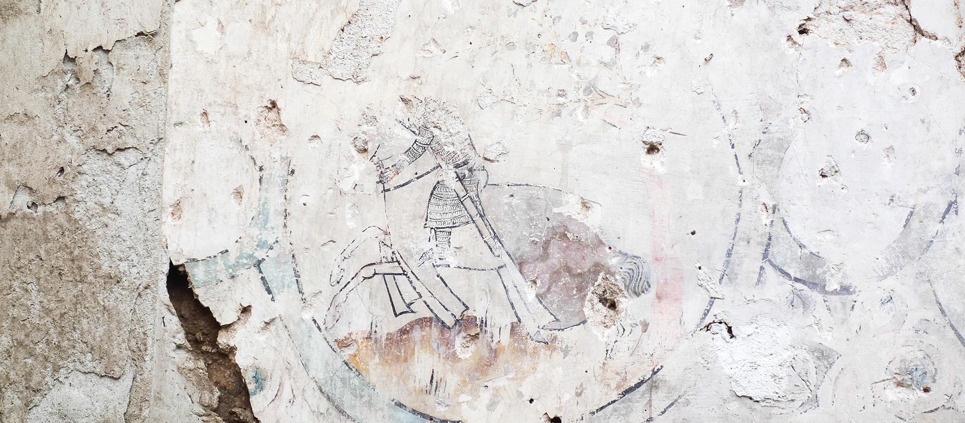 Pintura mural, Cuesta de San Justo nº 6. Toledo.