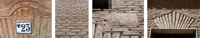 Punta paleta. Fachadas barrocas, S. XVIII. Toledo