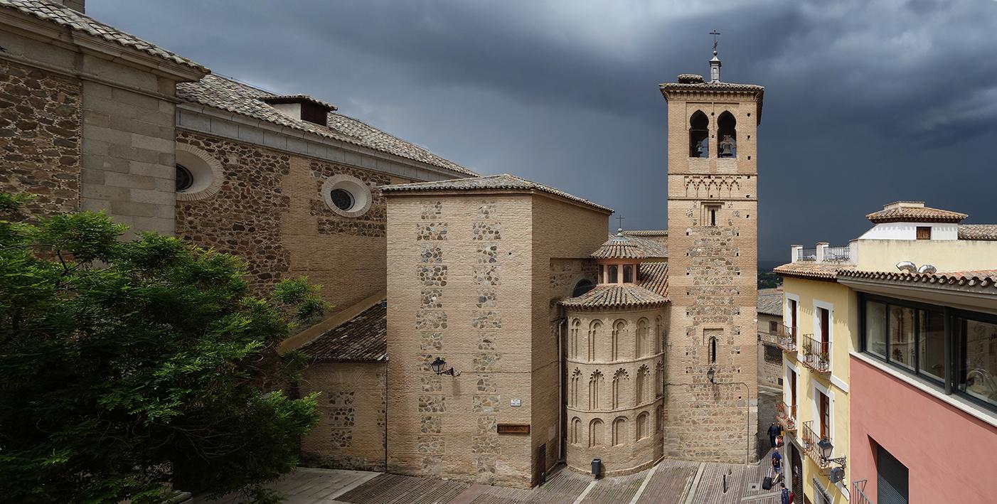 Ábsides y torre de la Iglesia de Santa Leocadia, en la Plaza de Santo Domingo el Antiguo, Toledo