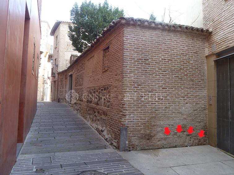 Arco de descarga. Calle San Ildefonso, Toledo.