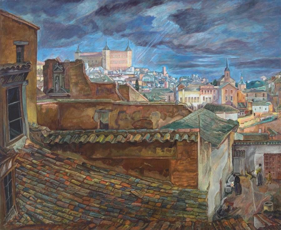 Paisaje desde las Miñacas, August Bresgen