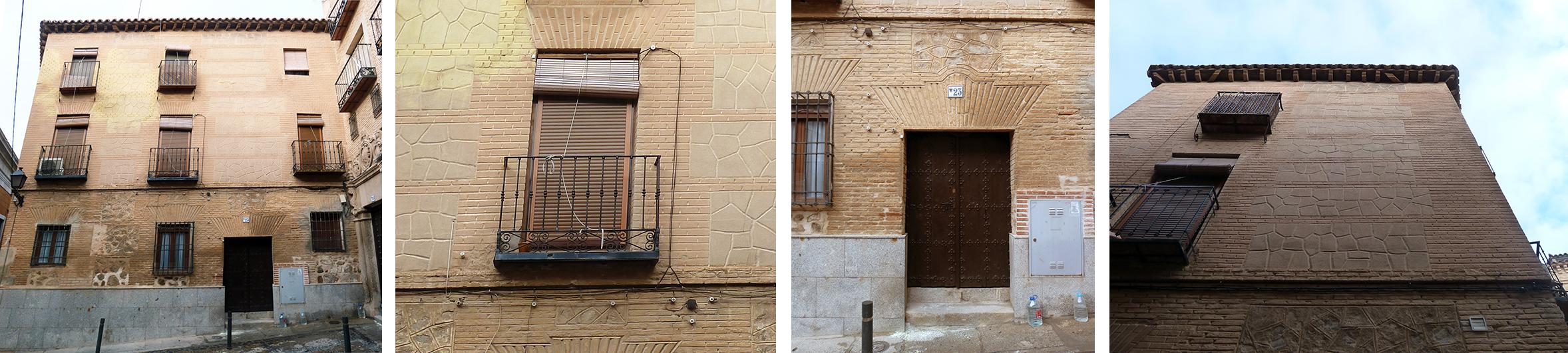 Punta paleta. Composición fachada Instituto 23, Toledo
