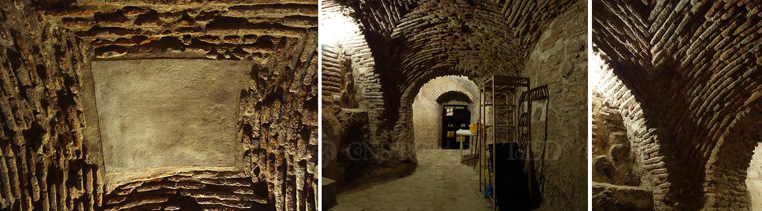 Detalles baño ritual judío, Callejón del Verde. Toledo