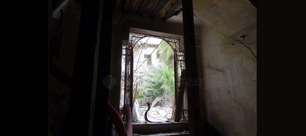 Zaguán de la antigua casa-herrería de Julio Pascual. Toledo