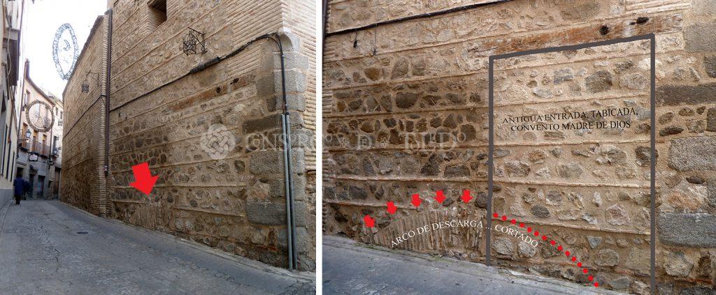 Arco de descarga. Convento Madre de Dios. Toledo