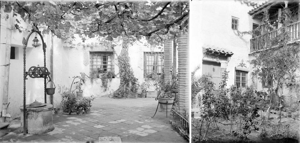 Patio de la casa-herrería de Julio Pascual. Fotografías de Otto Wunderlich, Fototeca del Patrimonio Histórico Español
