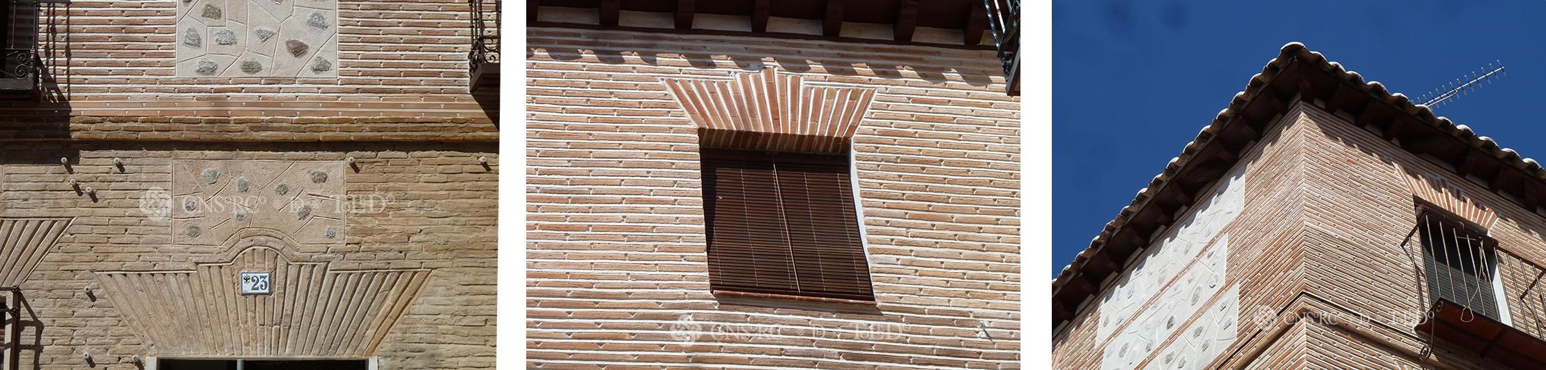 Punta paleta. Acabado final calle Instituto 23. Toledo