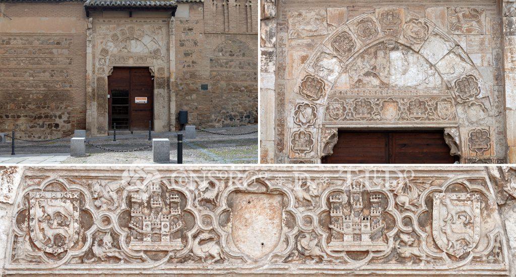 Portada del antiguo palacio de los Toledo y Ayala. Convento de Santa Isabel. Toledo