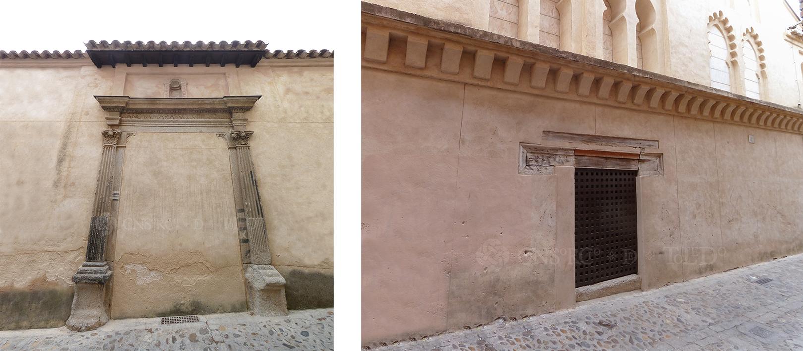 Mil puertas tabicadas (II). Calle Santa María la Blanca, Toledo