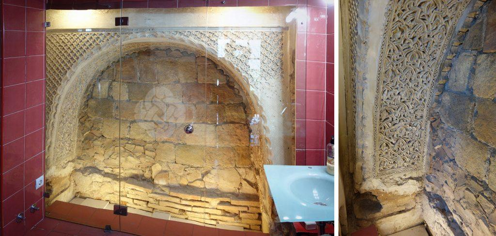 Arco angrelado, yesería, Corredorcillo de San Bartolome nº 4, Toledo