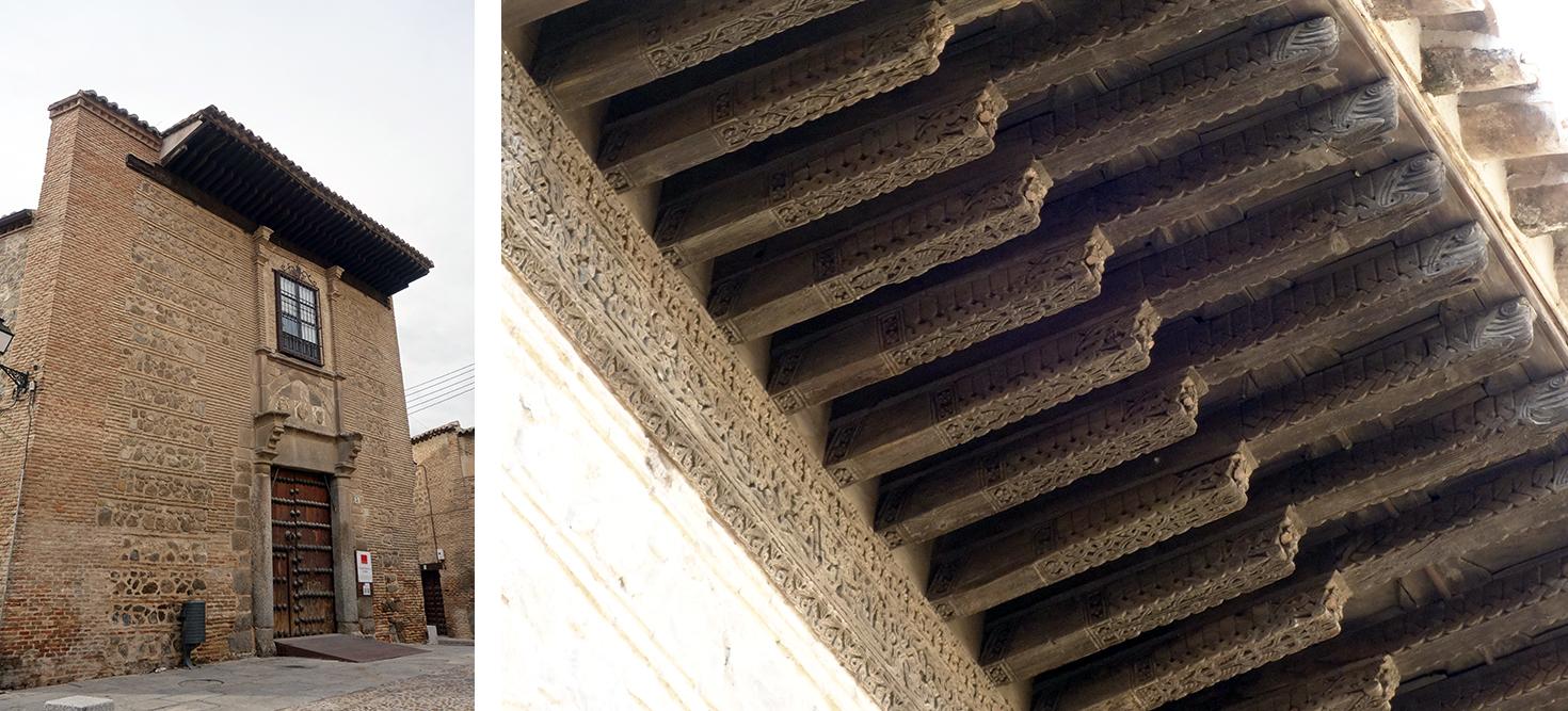 Tejaroz del llamado Palacio del Rey Don Pedro, en Toledo. Fotografías: Jose María Gutiérrez Arias